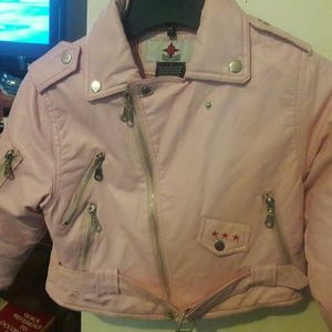 Other - Girls 7T Pink Leather Jacket